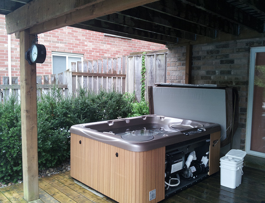 Installed Hot Tub