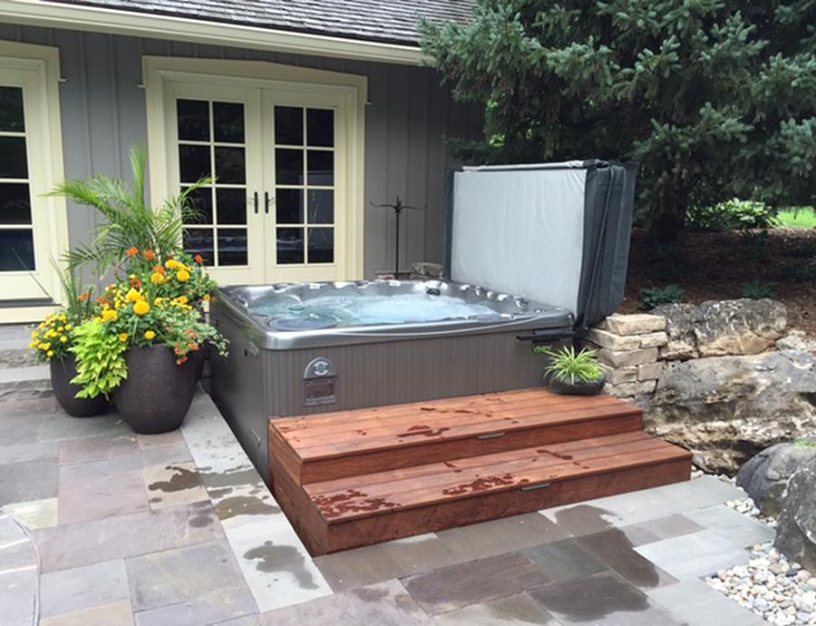 Beautiful Hot Tub Installation