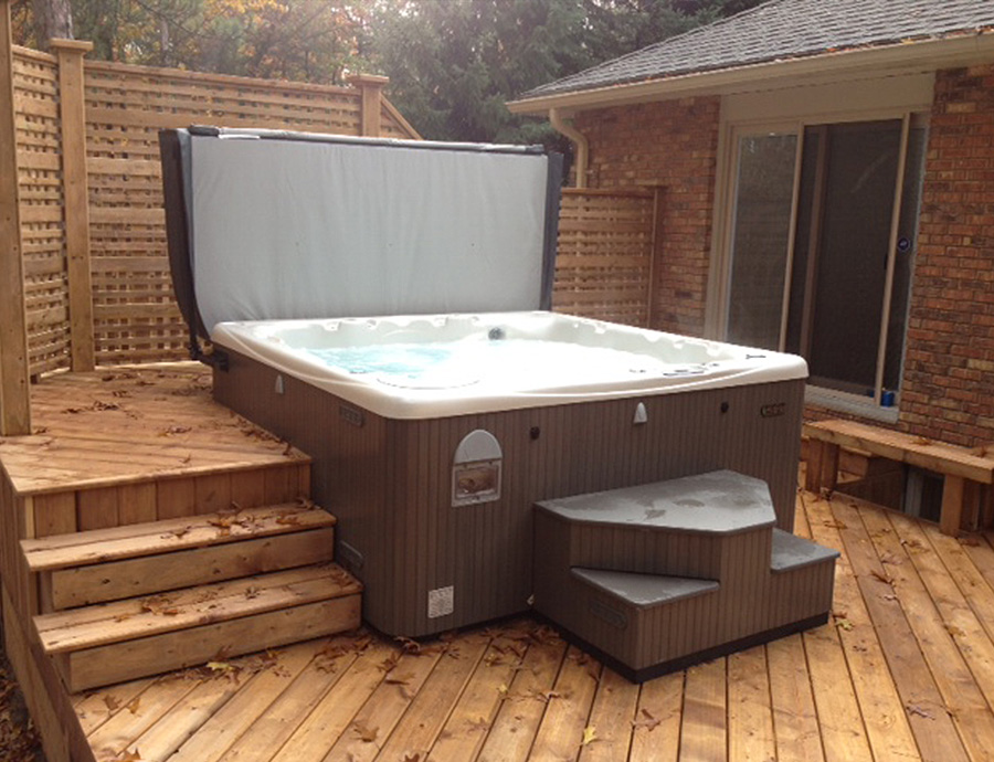 Hot Tub Installed on Deck