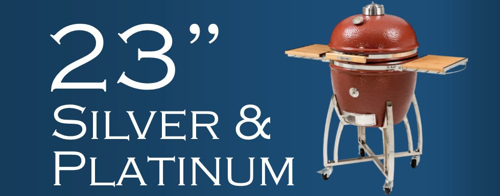"""23"""" Silver and Platinum Saffire Grill"""