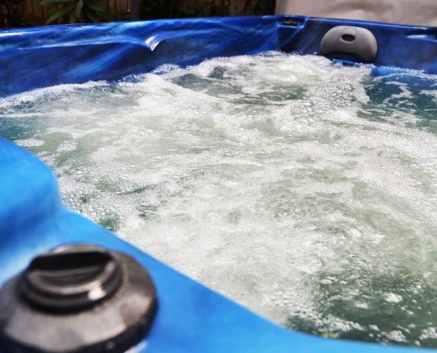 Image of Hot tub going through maintenance