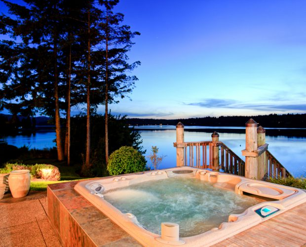 Image of newly moved hot tub